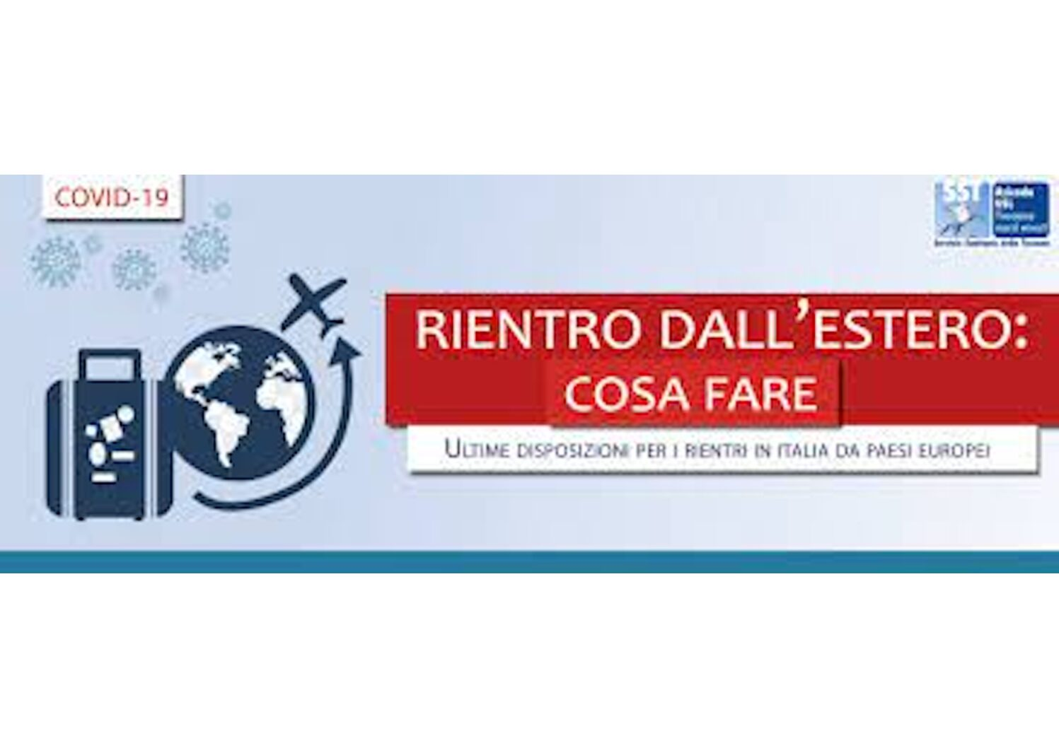 Emergenza COVID 19- Rientri in Italia dall'estero
